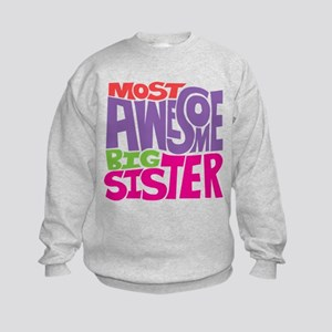 Awesome Big Sister Kids Sweatshirt